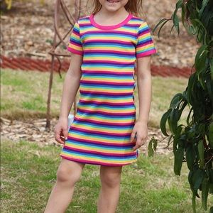 Other - NWT Youth Rainbow Ribbed Dress